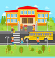 children go back to school flat vector image vector image