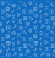 cloning line seamless pattern with blue vector image