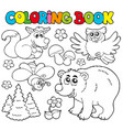 coloring book with forest animals 1 vector image vector image