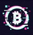 crypto currency coin emblem blockchain vector image