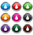 cupcake set 9 collection vector image vector image