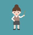 cute character back to school theme teacher in vector image