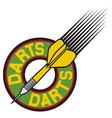 darts label vector image vector image