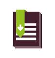 ebook with arrow download vector image vector image