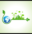 Ecology concept with earth icon vector image