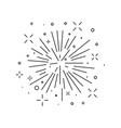 festive burst firework icon in line artmonoc vector image vector image
