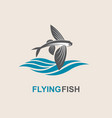 flying fish icon vector image vector image