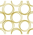 golden rings pattern vector image