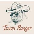 Gorilla like a texas ranger vector image vector image