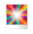 Instant blank photo template with rainbow vector image vector image