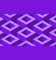 isometic pattern in purple vector image vector image