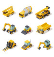 isometric industrial machinery 3d construction vector image