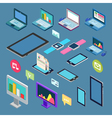 Isometric Technology Electronic Device Set vector image vector image