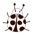ladybug animal insect cartoon isolated design vector image