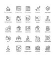 map and navigation line icons set vector image