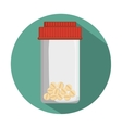 medical bottle pills container vector image