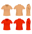 men polo t shirts vector image
