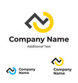 modern logo with check mark and step identity vector image vector image