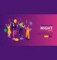 night party isometric banner vector image