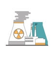 nuclear plant icon vector image vector image