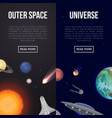 outer space flyers with cosmic elements vector image
