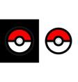poke ball icon from pokemon vector image vector image