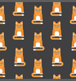 red cat seamless pattern black vector image vector image
