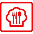 red icon for food symbol vector image