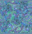 seamless elegant floral doodle pattern vector image