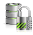 Security Database Concept vector image vector image