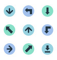 set of 9 simple cursor icons can be found such vector image vector image