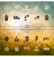 Set of revolution icons vector image