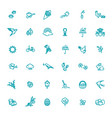 set outline icons spring springtime vector image vector image