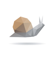 Snail abstract isolated on a white backgrounds vector image vector image