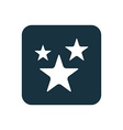 stars icon Rounded squares button vector image vector image