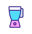 stationary smoothie blender icon outline vector image vector image
