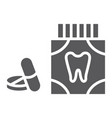 toothache painkiller tablets glyph icon vector image vector image