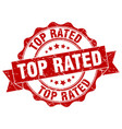 top rated stamp sign seal vector image vector image
