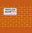 trafalgar square wall vector image vector image