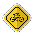 traffic signal with bicycle vehicle isolated icon vector image vector image