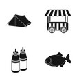 travel fast food and other web icon in black vector image vector image