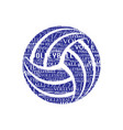 volleyball text symbol vector image vector image