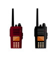 Walkie talkie and police radio or radio vector image vector image