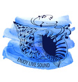Watercolor musical with seashell vector image vector image