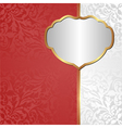 white red background with ornaments and golden vector image vector image