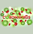 word coronavirus with covid-19 icon and virus vector image vector image