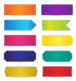 Colorful Labels Tags Banners Design vector image