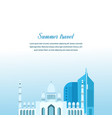 travel in arab emirates study of country culture vector image