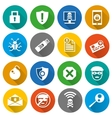 Set of security icons vector image