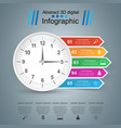 clock icon business infographics vector image